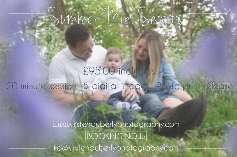 2019 Mini Shoots - Cheam, Surrey. Kirsten Duberly Photography.
