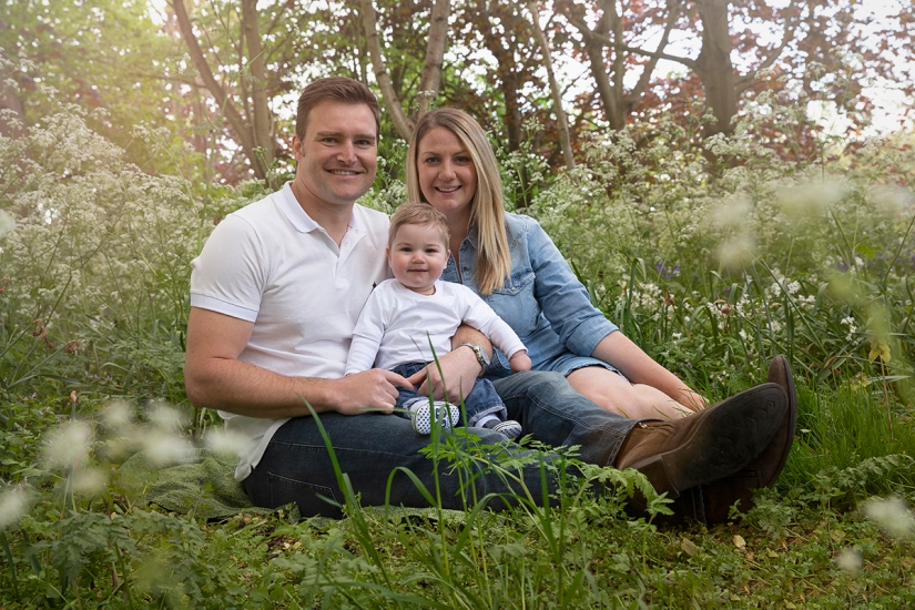Family photography at sunset. Kirsten Duberly Photography. Surrey, Cobham, Byfleet, Woking