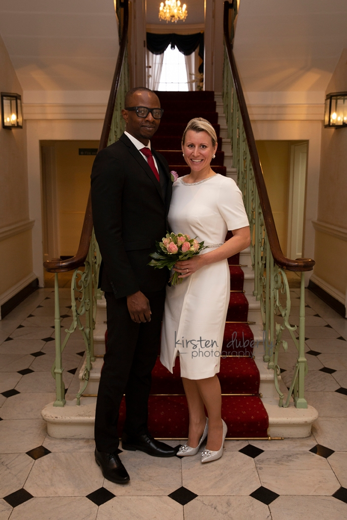 Bridal couple at Morden Park House